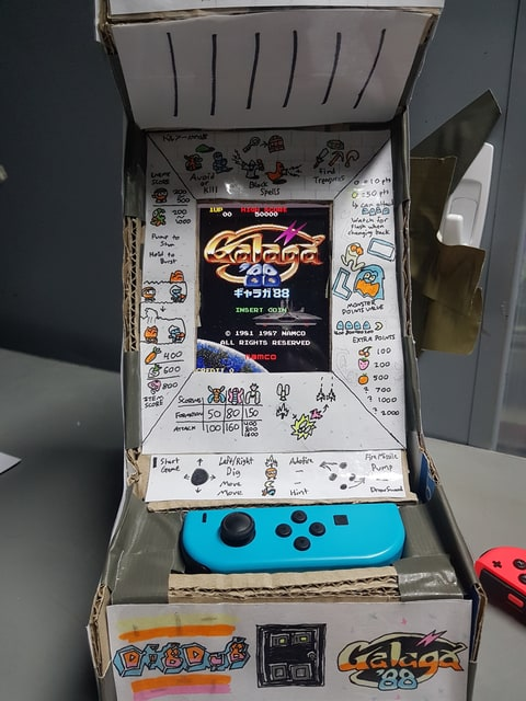 Someone Turned a Switch Into This Tiny, Cardboard Arcade Cabinet ...