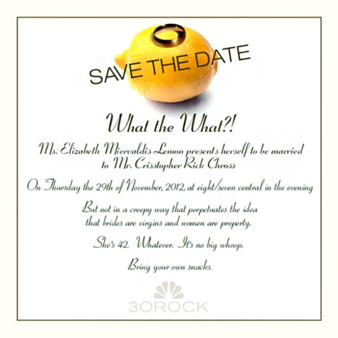 30 rock save the date
