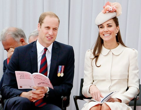 prince william and kate smiling