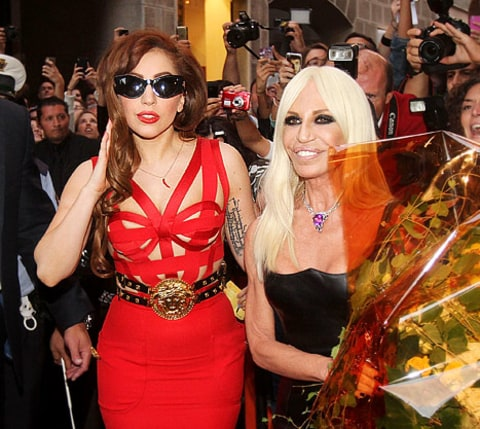 gaga and donatella