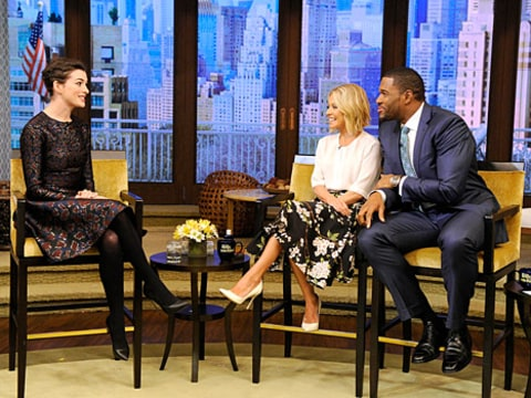 Anne Hathaway on Live with Kelly and Michael