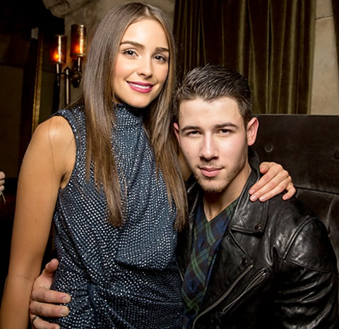 Olivia and Nick Jonas