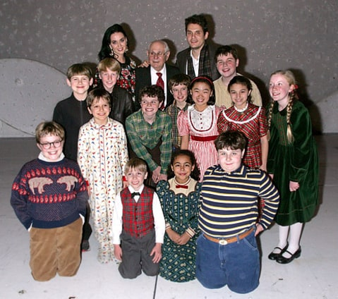 katy and jon with christmas cast
