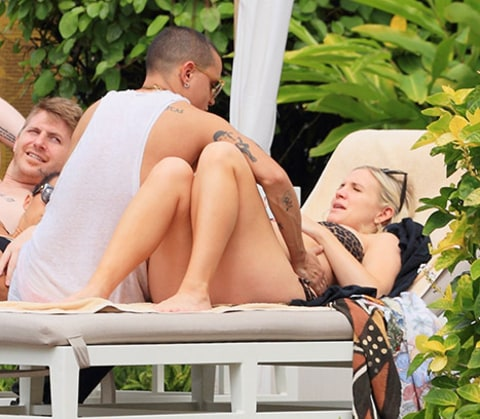 Ashlee Simpson and Evan Ross Babymoon