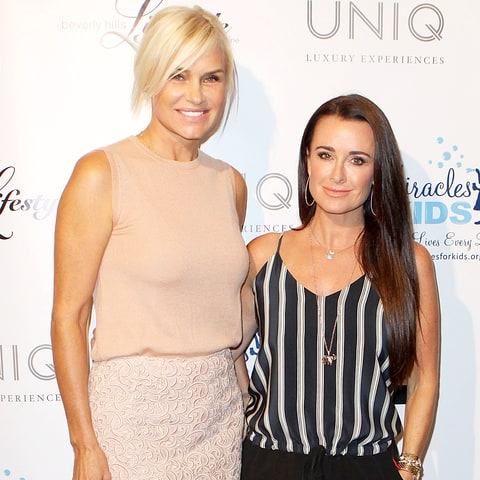 Yolanda Foster and Kyle Richards
