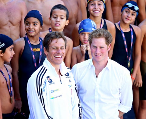 Prince Harry and Cesar Cielo