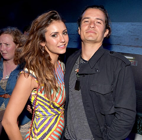 Nina Dobrev and Orlando Bloom