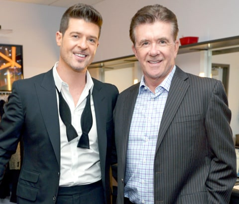 Robin Thicke and Alan Thicke