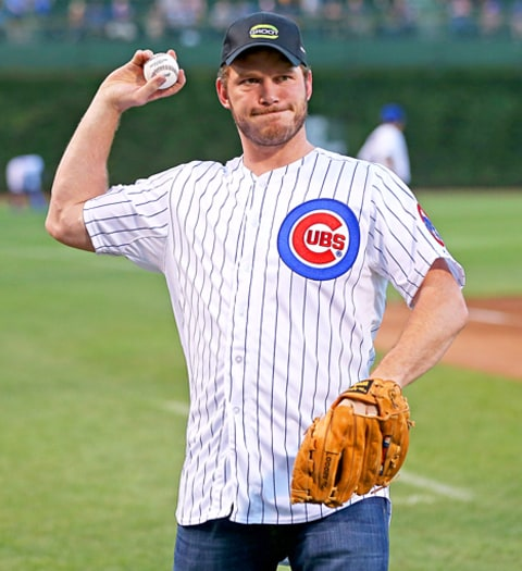 Chris Pratt Chicago Cubs Baseball Game