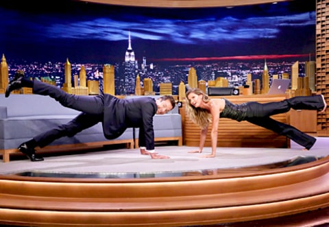 Jimmy Fallon and Gisele Bundchen