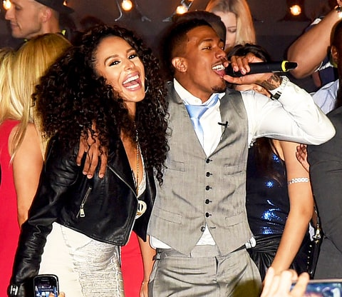 Brittany Bell and Nick Cannon