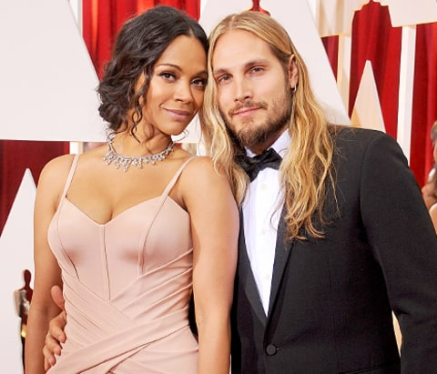 Zoe saldana s husband totes twins in matching carriers instagram pic