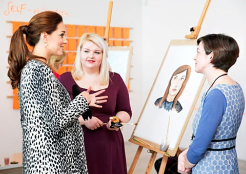 Kate Middleton and Art Students