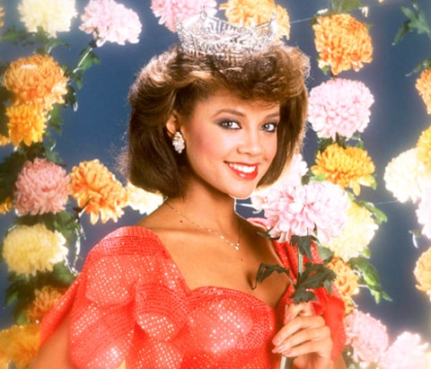 Miss New York Vanessa Williams winner of the 57th Miss America Pageant ...