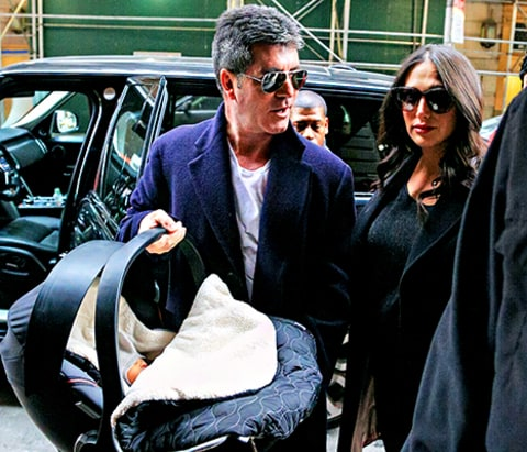 Simon Cowell, Lauren Silverman and Eric Cowell
