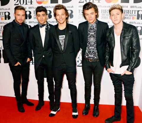 One Direction Brit Awards 2014