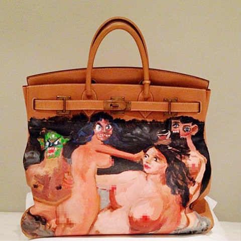 Kanye West and Kim Kardashian Bag
