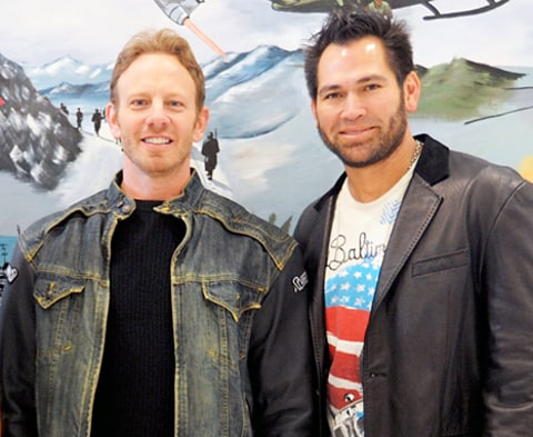 Ian Ziering and Johnny Damon