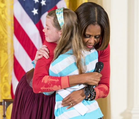 Michelle Obama and Charlotte Bell