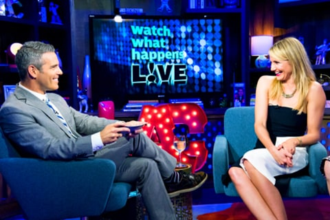 Andy Cohen and Cameron Diaz Watch What Happens Live
