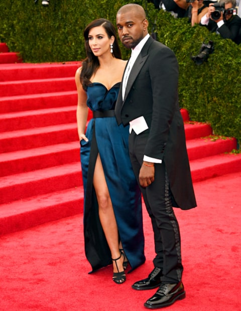 Kayne West and Kim Kardashian Met Gala