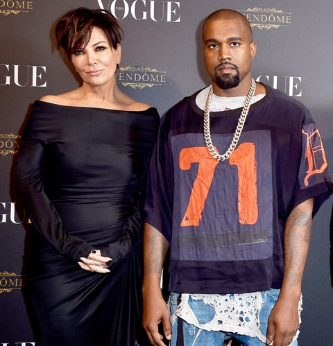 Kris Jenner and Kayne West