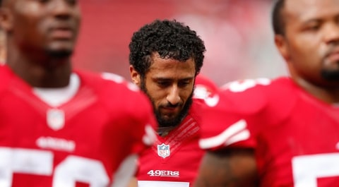 Colin Kaepernick Stand National Anthem