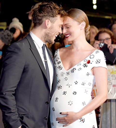 Sam Claflin Expecting First Child With Laura Haddock: Baby Bump Photos ... Leicestersquare