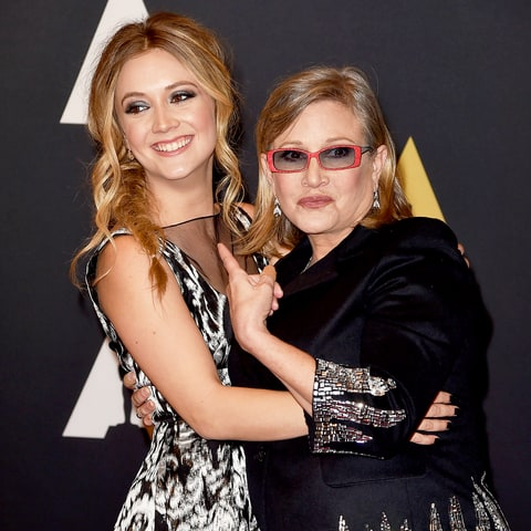 Billie Lourd and Carrie Fisher