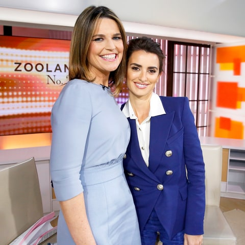 Savannah Guthrie and Penelope Cruz