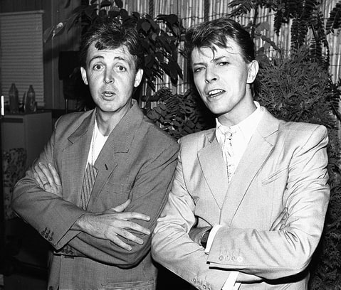 Paul McCartney and David Bowie
