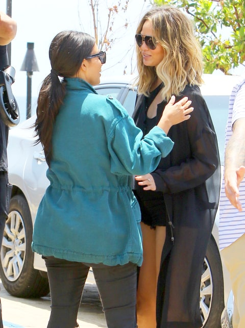 Kim Kardashian and Chrissy Teigen