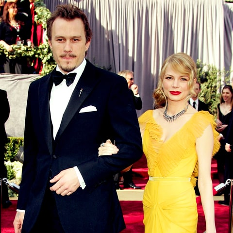 Heath Ledger and Michelle Williams