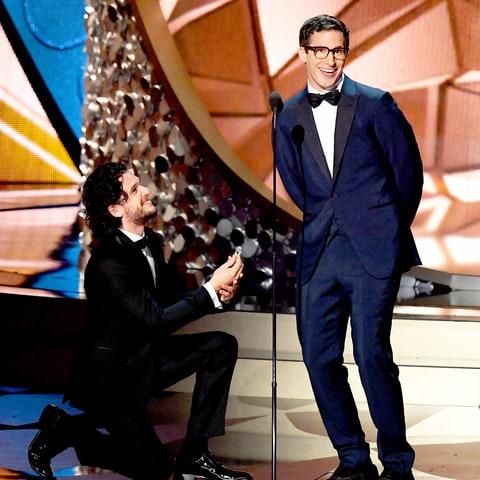 Kit Harington and Andy Samberg