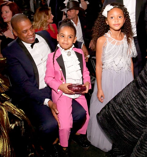 Jay Z, Blue Ivy Carter and Madison Brown