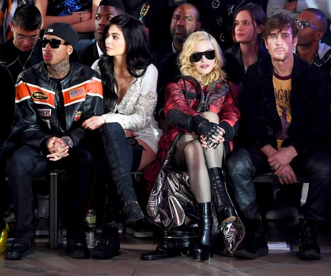 Tyga, Kylie Jenner and Madonna