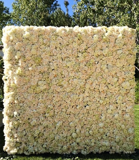 Kim Kardashian's new rose wall