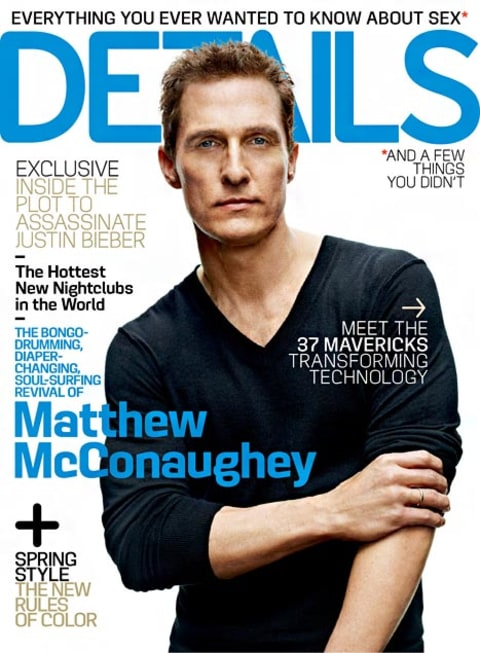 Matthew McConaughey Details Cover