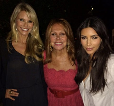 kim k and christie brinkley