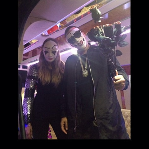 khloe and french wearing masks