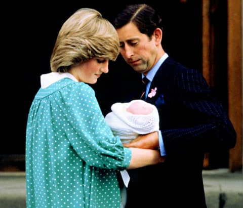 Prince Charles, Princess Diana and Prince William