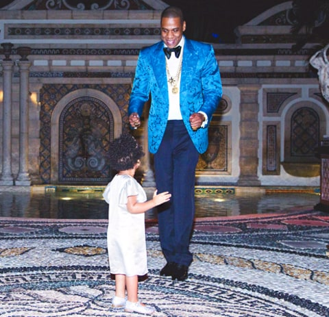 Jay Z and Blue Ivy NYE