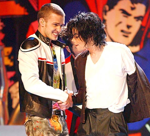 Justin Timberlake and Michael Jackson