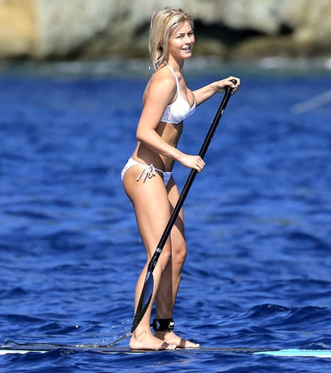 Julianne Hough Paddleboarding