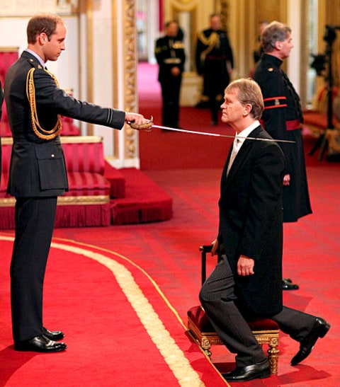 Prince Williams knighting
