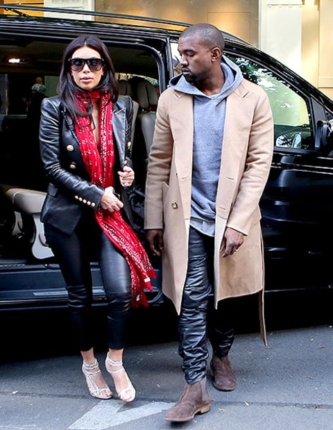 kim and kanye in prague