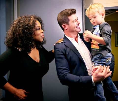 Oprah Winfrey and Robin Thicke
