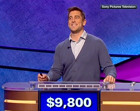 Aaron Rodgers on Celeb Jeopardy
