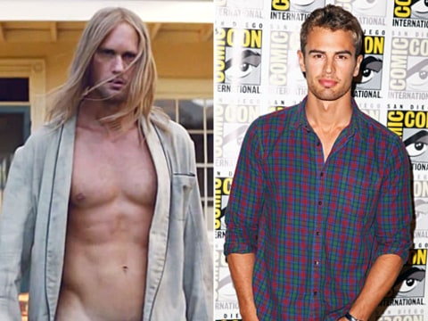 Alexander Skarsgard and Theo James