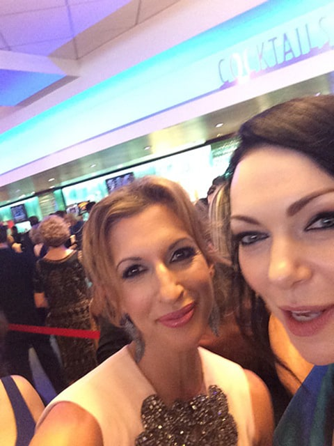 Alysia Reiner with Laura
